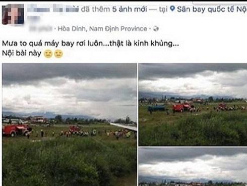 Cảnh sát triệu tập người tung tin đồn 'máy bay rơi ở Nội Bài'