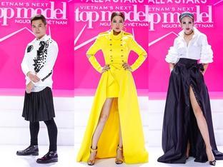Bộ ba quyền lực Vietnam's Next Top Model đồng loạt mặc váy rườm rà