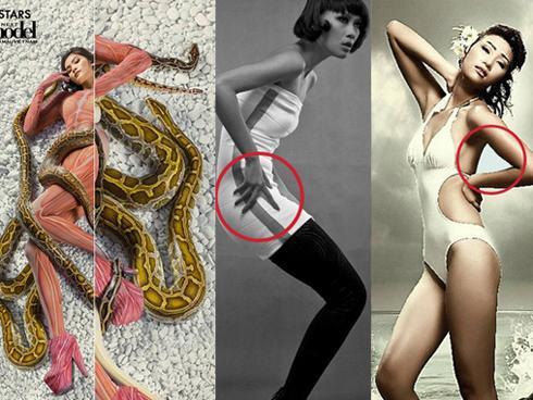 Bắt lỗi photoshop ngớ ngẩn của Vietnam's Next Top Model qua các mùa