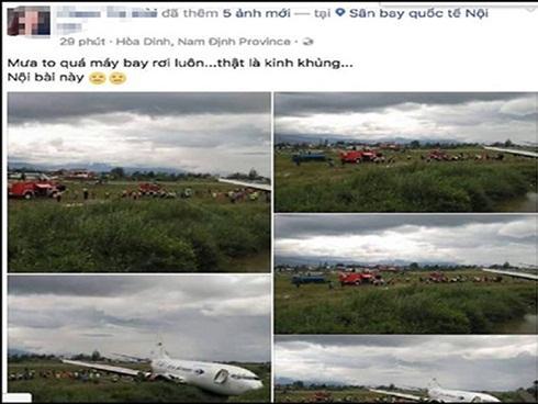 Người tung tin đồn rơi máy bay ở Nội Bài khai gì tại cơ quan điều tra?