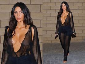 Thả rông thôi chưa đủ, cô Kim phải mặc nguyên set lưới đánh cá mới chịu