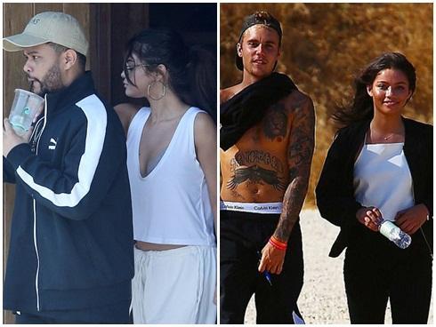 Selena diện áo khoét sâu khoe vòng 1 bên The Weeknd, Justin lại hẹn hò với người đẹp mới