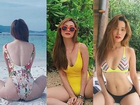 Muôn kiểu diện bikini 'nóng bỏng mắt' của Sĩ Thanh