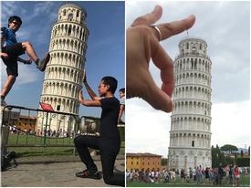 Thánh sống ảo như bắt được vàng khi thấy tháp nghiêng Pisa (P2)