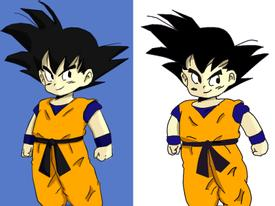 Vẽ Goku bằng MS Paint