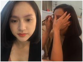 Sau scandal 'đút đầu cầu tiêu', Hương Giang Idol đuổi vận đen bằng chiêu sửa lông mày