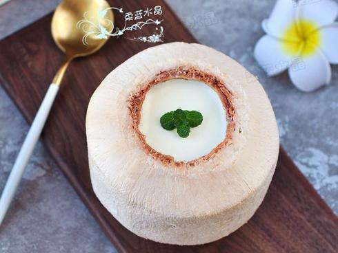 Trời nóng, tự tay làm quả thạch dừa thơm ngon mát lạnh cho cả nhà
