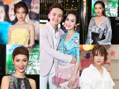 Dàn sao Việt vượt đường xa mưa gió đến xem phim đầu tay của Tú Vi - Văn Anh