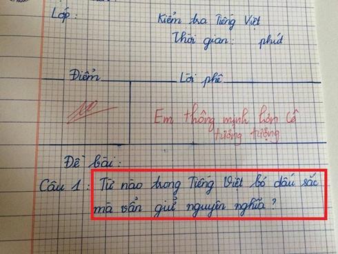 'Từ nào trong Tiếng Việt bỏ dấu sắc mà vẫn giữ nguyên nghĩa?', câu trả lời của bé lớp 3 khiến nhiều người 'đứng hình'
