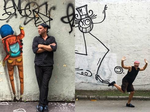 Nam nghệ sĩ biến bức tường xấu xí thành tác phẩm nghệ thuật