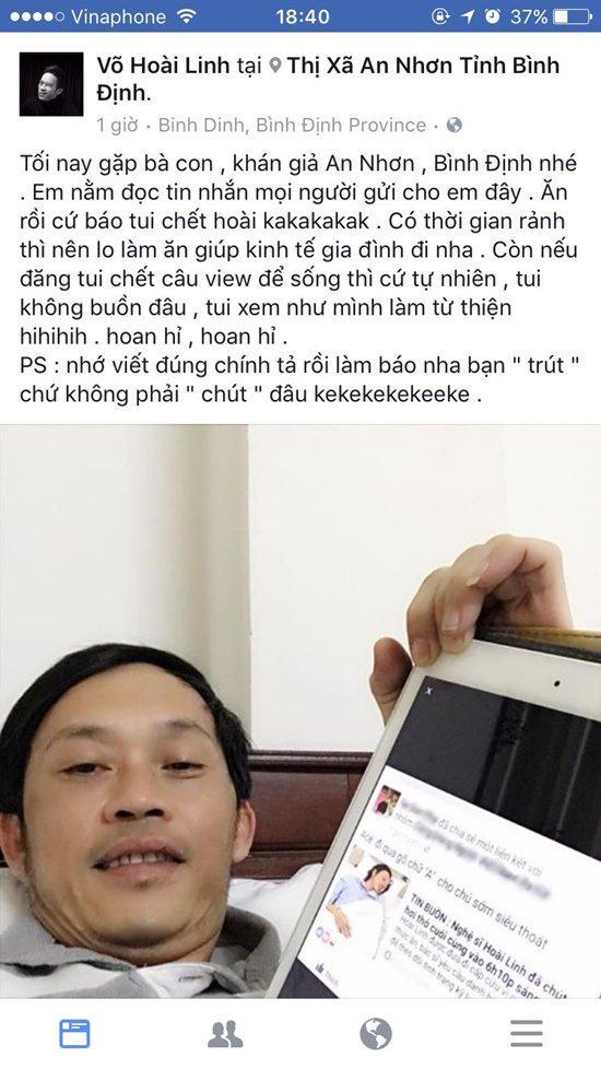 Thực hư thông tin nghệ sĩ Hoài Linh qua đời sáng nay-1