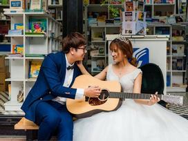 Cô dâu xinh đẹp và chú rể lãng tử nhìn tưởng 'Bích Phương - Bùi Anh Tuấn' khiến dân mạng xôn xao