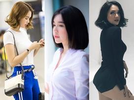 Ngọc Trinh - Hương Giang Idol - Elly Trần đồng loạt cắt phăng mái tóc dài thương nhớ