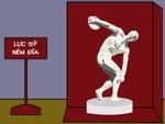 Truyện tranh: Bí mật hài hước về bức tượng ném đĩa cổ xưa