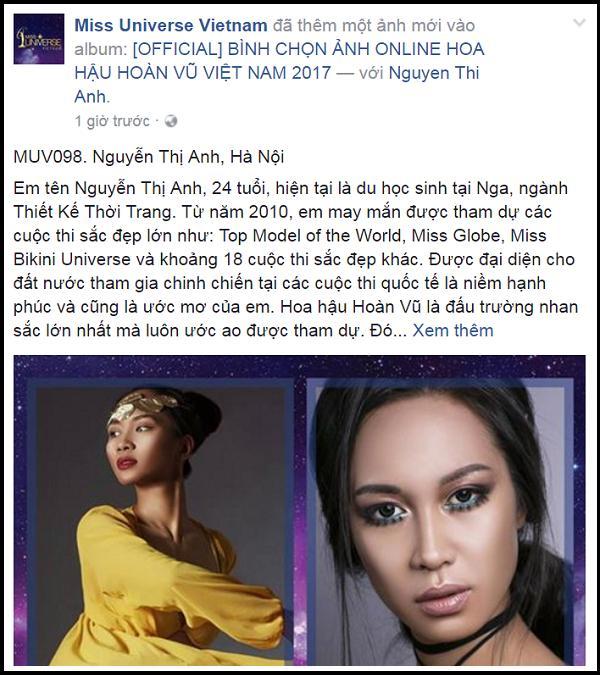 Xuất hiện thí sinh cao 1m83, thi 21 cuộc thi sắc đẹp tại Hoa hậu Hoàn vũ Việt Nam 2017-1