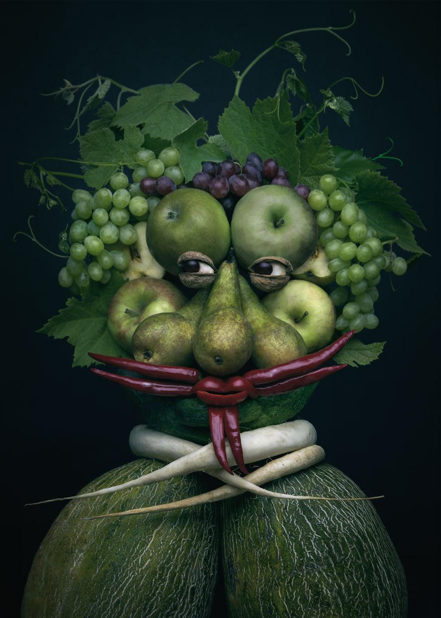 Những tác phẩm chân dung từ ẩm thực khiến ai xem cũng phải 'ngả mũ thán phục'.-2