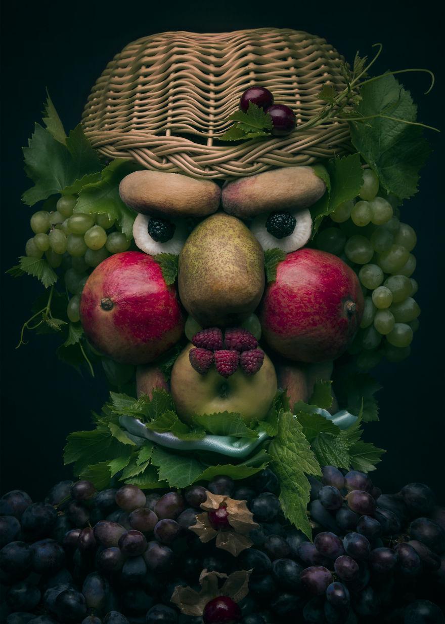 Những tác phẩm chân dung từ ẩm thực khiến ai xem cũng phải 'ngả mũ thán phục'.-3