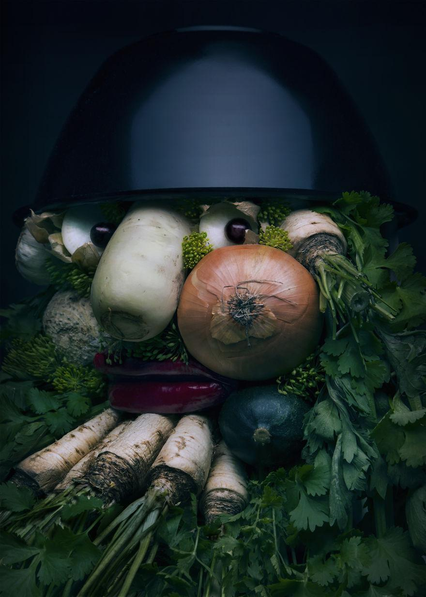 Những tác phẩm chân dung từ ẩm thực khiến ai xem cũng phải 'ngả mũ thán phục'.-4