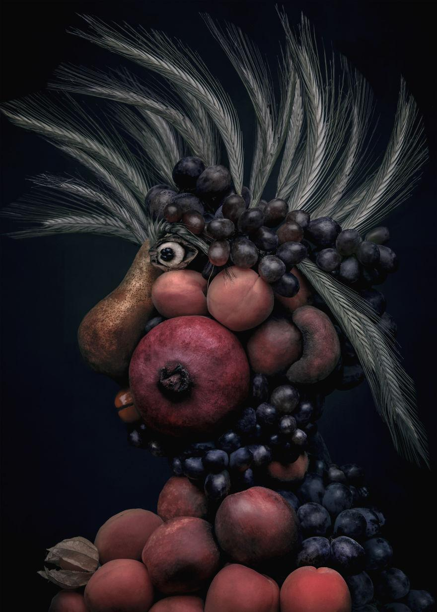 Những tác phẩm chân dung từ ẩm thực khiến ai xem cũng phải 'ngả mũ thán phục'.-5