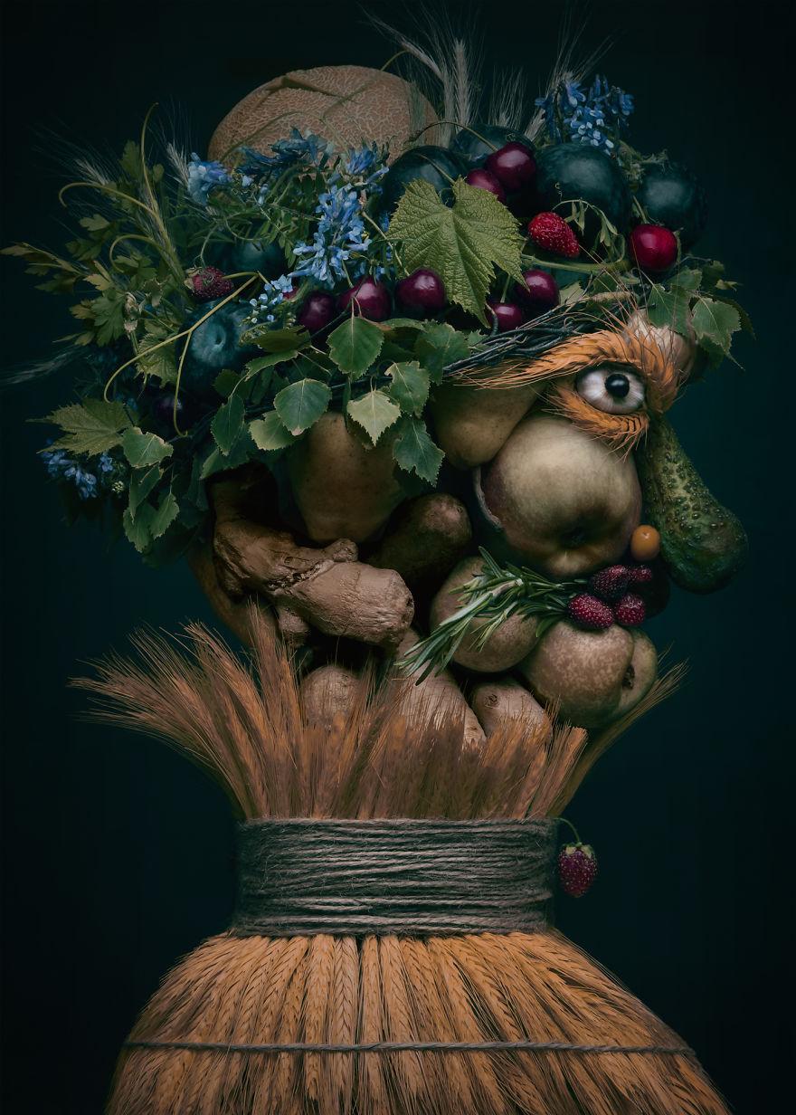 Những tác phẩm chân dung từ ẩm thực khiến ai xem cũng phải 'ngả mũ thán phục'.-6