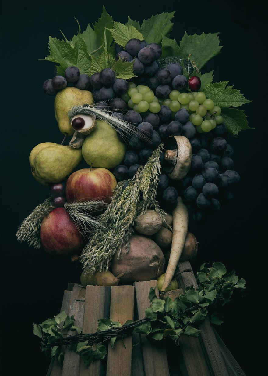 Những tác phẩm chân dung từ ẩm thực khiến ai xem cũng phải 'ngả mũ thán phục'.-7