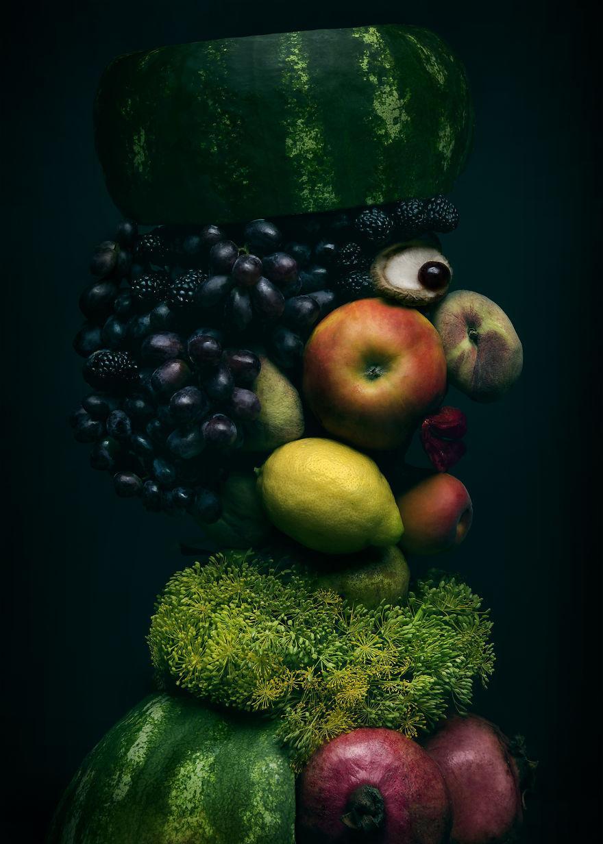 Những tác phẩm chân dung từ ẩm thực khiến ai xem cũng phải 'ngả mũ thán phục'.-8