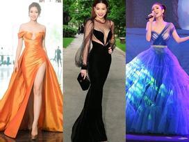 Hồ Ngọc Hà gợi cảm sánh vai Kim Lý sáng nhất thảm đỏ showbiz Việt tuần này