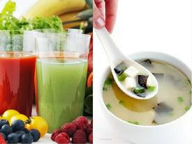 Giảm cân bằng soup hay nước trái cây tốt hơn?