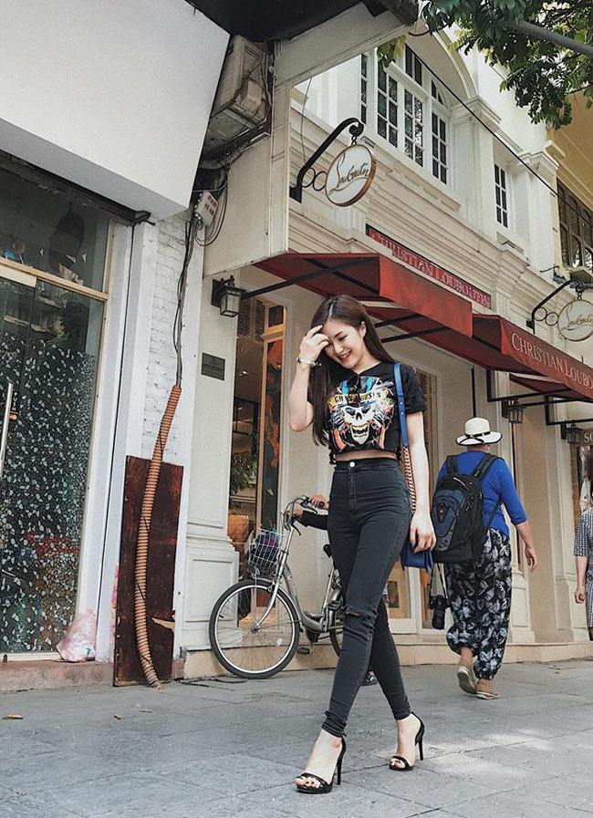 Các cô gái dưới 1m60 hãy học cách Hương Tràm ăn gian chiều cao khéo léo-3
