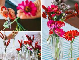 Cuối tuần, bày cách cắm hoa rước lộc vào nhà