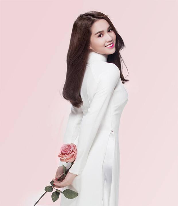 Cũng là áo dài trắng, nào ngờ Ngọc Trinh tóc ngắn lại xinh đẹp bội phần xưa kia-12
