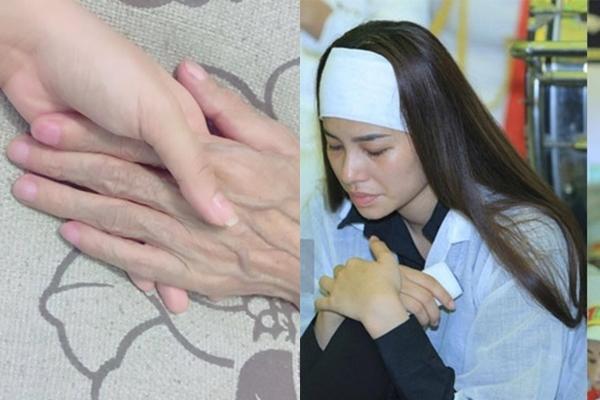 Hoa hậu Phạm Hương suy sụp, nhập viện truyền nước sau đám tang bố-1