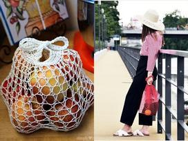 Túi đựng hoa quả của các mẹ bỗng chốc lên đời thành phụ kiện hot hè 2017