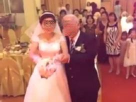 Cô dâu trẻ sánh bước bên chồng đầu tóc bạc phơ ở Hải Phòng gây xôn xao