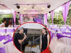 Lê Phương và chồng tập hát cho lễ cưới ở Trà Vinh