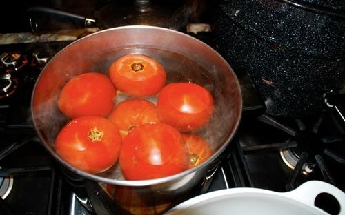 Cho cà chua đông đá rồi chà lên khắp mặt trong vài phút, 10 người dùng 9 người mê-2