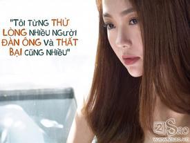 Minh Hằng: 'Tôi từng thử lòng nhiều người đàn ông và thất bại cũng nhiều'