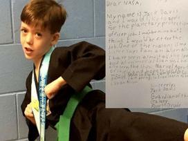 Bé 9 tuổi gửi thư cho NASA, xin làm người bảo vệ hành tinh