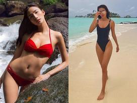 Không hẹn mà gặp, Hoàng Thùy - Minh Tú khoe ảnh mặc bikini 'đốt mắt' ở Phú Quốc