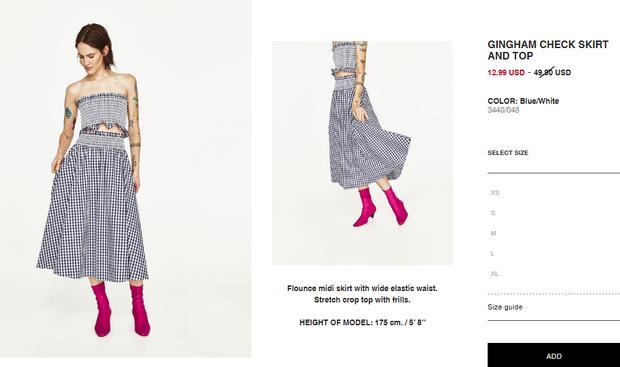 Bộ váy này đang được con gái Việt diện suốt trên Instagram, chứng tỏ gingham là hot trend 'phá đảo' hè 2017-7