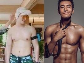 Chăm vợ đẻ - con thơ, 'soái ca 6 múi' Huỳnh Hiểu Minh tăng cân béo mập