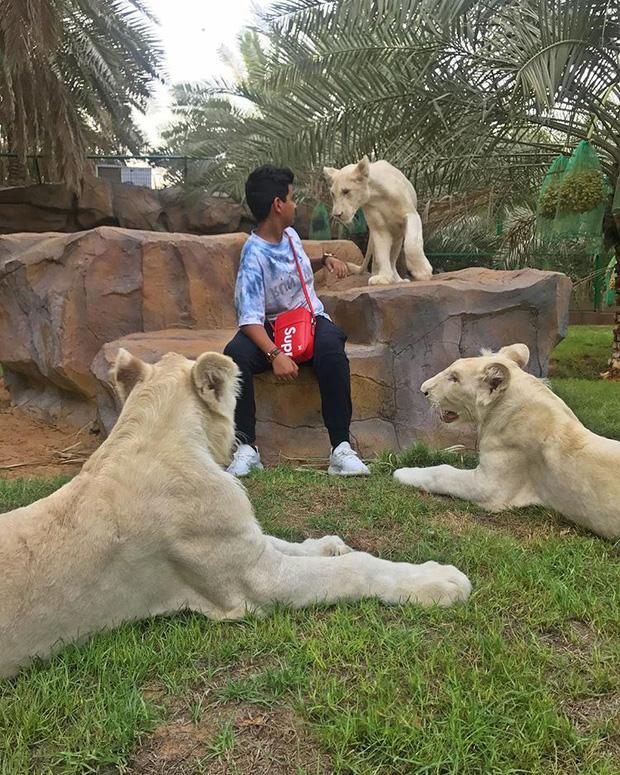 Cuộc sống toàn hàng hiệu, siêu xe, thú cưng đặc biệt và làm bạn với người nổi tiếng của cậu ấm Dubai 15 tuổi-3
