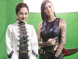 Ngô Thanh Vân xăm trổ đầy mình, Bảo Anh hóa 'đả nữ' trong phim mới