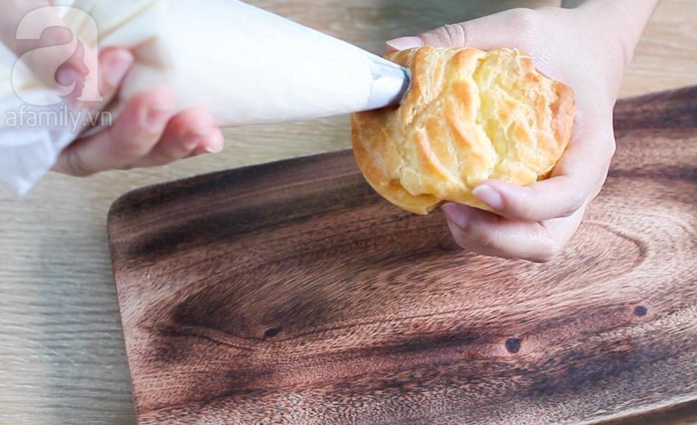 Soi ngay cách làm bánh su kem khổng lồ nhân tan chảy siêu hot-12