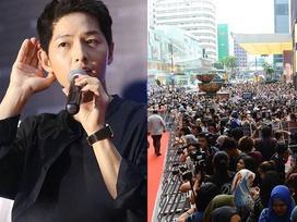 10.000 người chen chúc để ngắm nhìn Song Joong Ki bằng xương bằng thịt