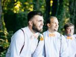 '1001' biểu cảm của chú rể khi nhìn thấy cô dâu bước vào lễ đường, dàn phù rể không thể nhịn cười