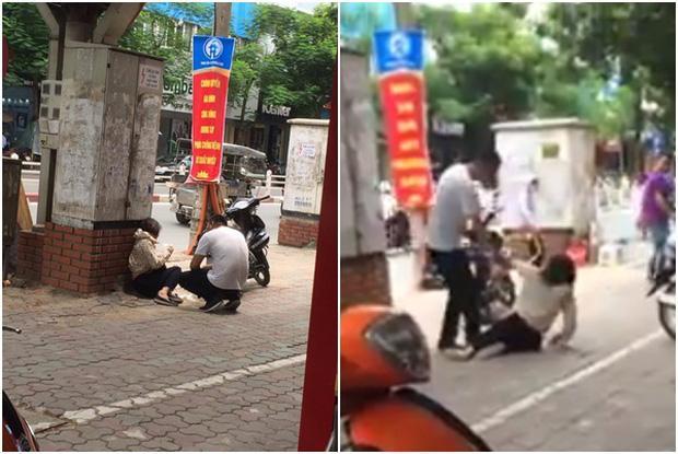 Cô gái bị chàng trai đánh gục trên phố Thái Hà nghi do ghen tuông-1