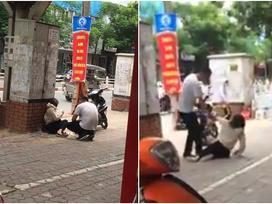 Cô gái bị chàng trai đánh gục trên phố Thái Hà nghi do ghen tuông