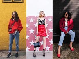 Tú Hảo - Ngọc Thảo mix đồ sắc đỏ đẹp nhất street style giới trẻ tuần này