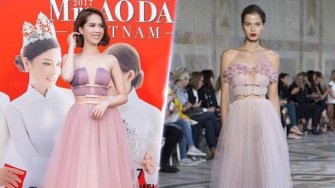 Ngọc Trinh và những lần diện váy nhái từ nhà mốt quốc tế-1